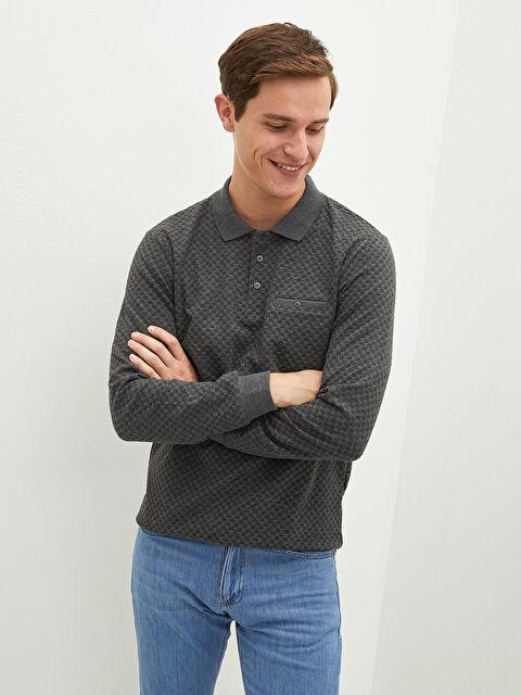 LCW CLASSIC Polo Neck Long Sleeve Men's Sweatshirt - LC WAIKIKI
