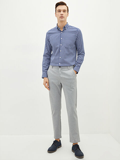 LCW FORMAL Slim Fit Long Sleeve Plaid Men Shirt - LC WAIKIKI