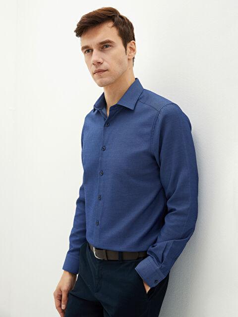 LCW FORMAL Slim Fit Long Sleeve Dobby Men's Shirt - LC WAIKIKI