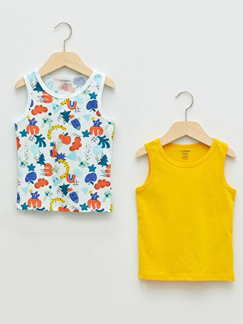 Crew Neck Cotton Baby Boy Undershirt 2 Pieces - LC WAIKIKI