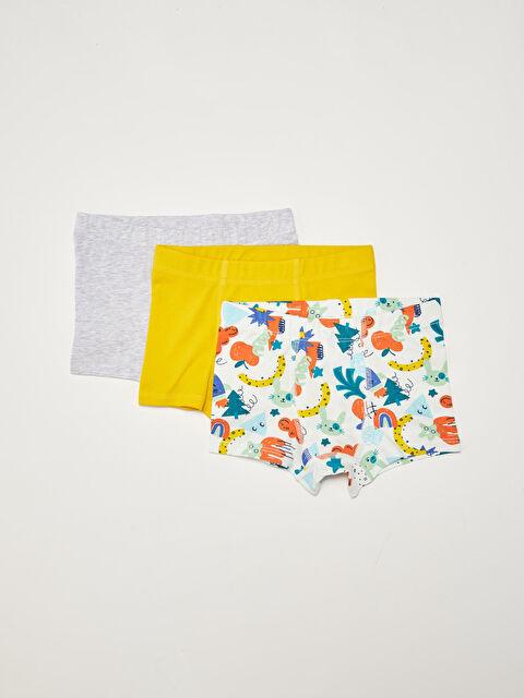 Elastic Waist Cotton Baby Boy Boxer 3 Pieces - LC WAIKIKI