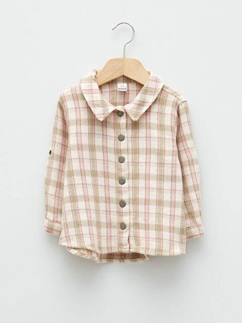 Long Sleeve Checked Patterned Baby Girl Shirt - LC WAIKIKI