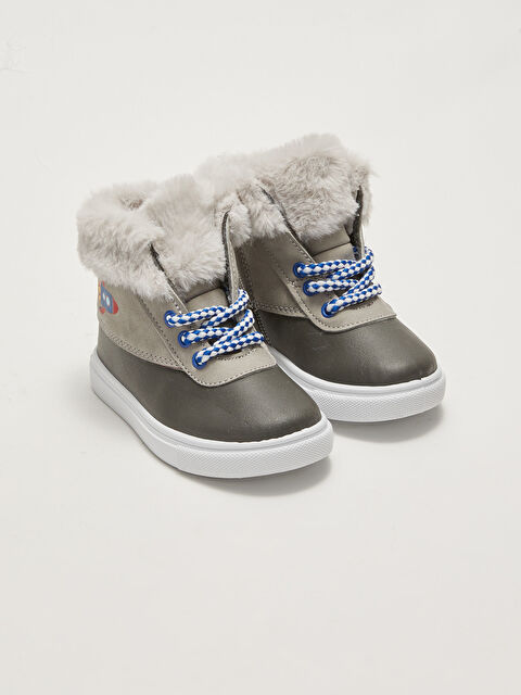 Fur Lined and Zippered Baby Boy Daily Ankle Boots - LC WAIKIKI