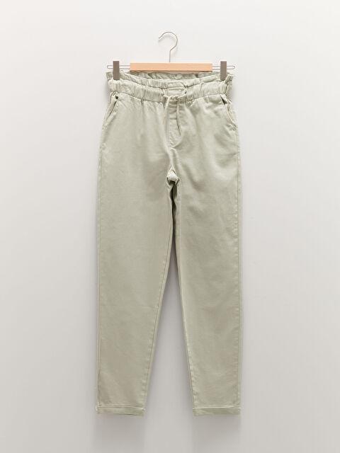 Elastic Waist Gabardine Girl Trousers - LC WAIKIKI