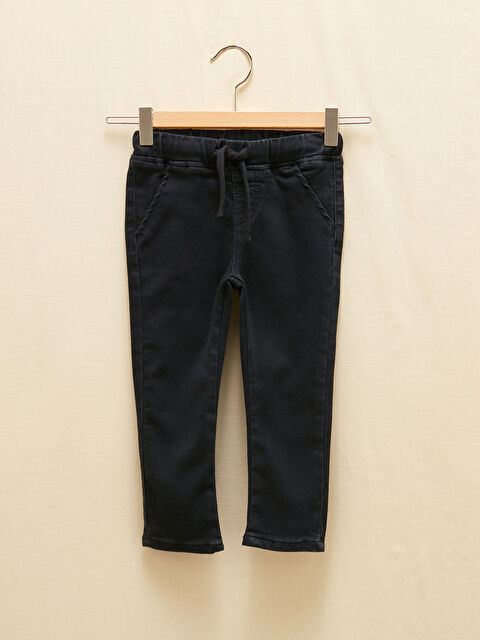Basic Baby Boy Jean Trousers With Elastic Waist - LC WAIKIKI