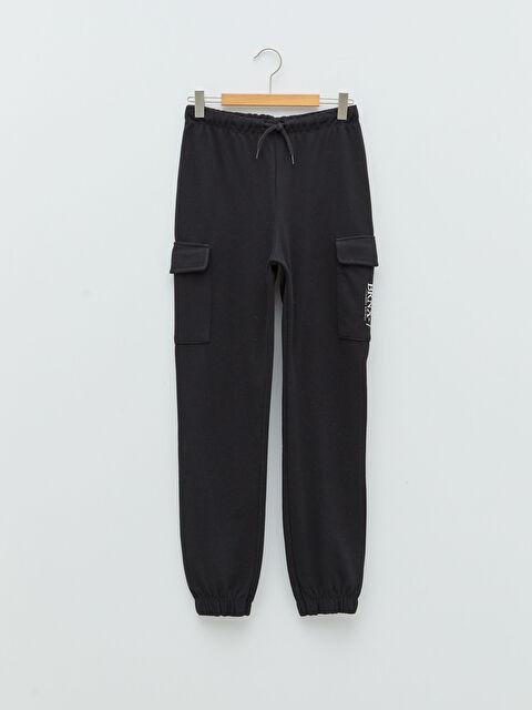 Elastic Waist Printed Girl's Jogger Sweatpants - LC WAIKIKI