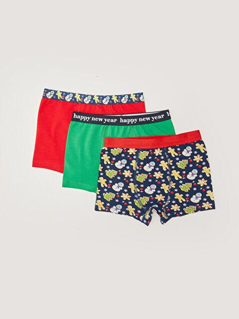 Christmas Themed Cotton Boy Boxer 3 Pack - LC WAIKIKI