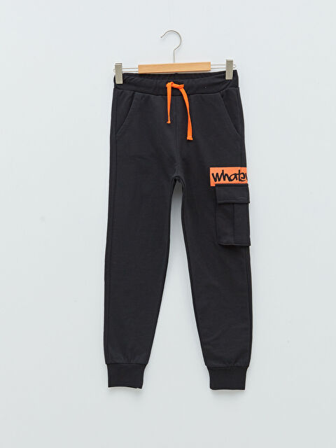 Elastic Waist Printed Boy Jogger Trousers - LC WAIKIKI