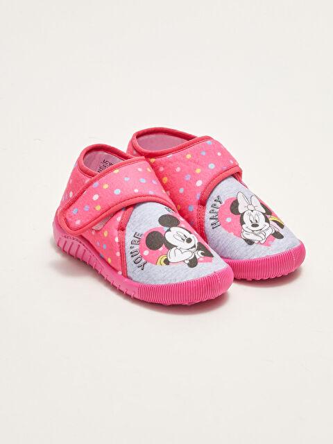Minnie Mouse Licensed Velcro Velcro Baby Girl Panduf - LC WAIKIKI
