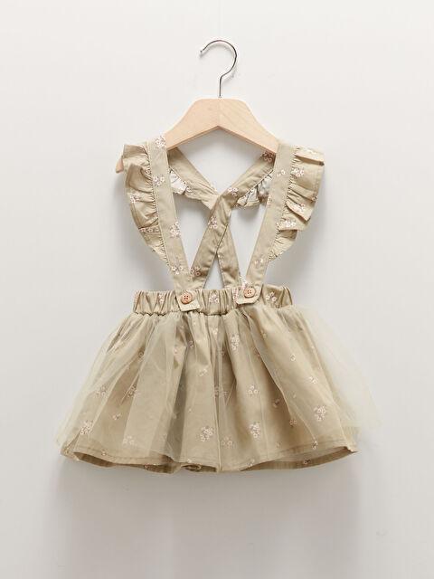Elastic Waist Printed Baby Girl Skirt - LC WAIKIKI