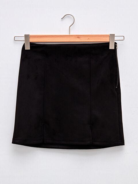 LCW CASUAL Women's Straight Mini Skirt With Zipper Waist - LC WAIKIKI