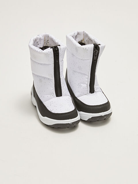 Printed Zippered Girls Snow Boots - LC WAIKIKI