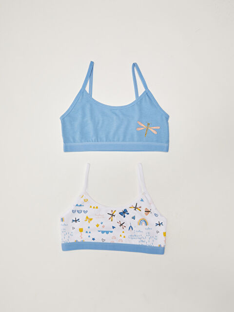 Printed Cotton Girl's Bustier 2 Pieces - LC WAIKIKI
