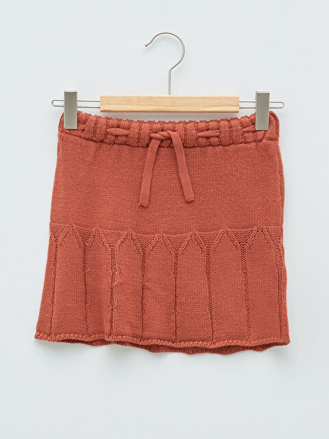 Self Patterned Baby Girl Knitwear Skirt - LC WAIKIKI