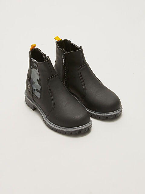 Boys' Boots with Elastic Zipper on the Sides - LC WAIKIKI