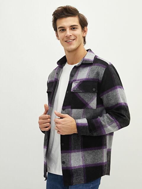 LCW VISION Regular Fit Long Sleeve Plaid Men's Shirt Jacket - LC WAIKIKI