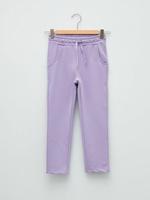 Basic Girls Elastic Waist Sweatpants - LC WAIKIKI