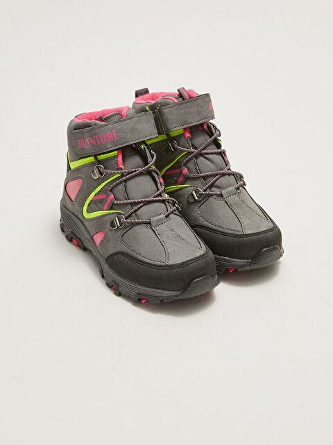 Lace-Up and Velcro Girls' Trekking Boots - LC WAIKIKI