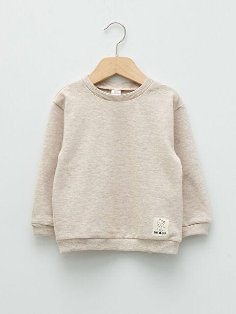 Crew Neck Long Sleeve Basic Baby Girl Sweatshirt - LC WAIKIKI