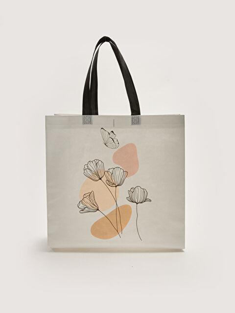 Floral Printed Women's Shopping Bag - LC WAIKIKI