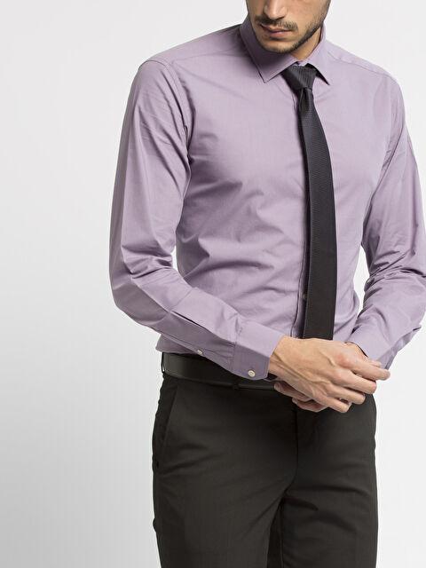 Slim Fit Uzun Kollu Poplin Gömlek - LC WAIKIKI