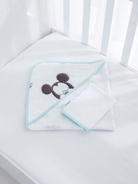Mickey Mouse Banyo Havlusu ve Kese - LCW HOME