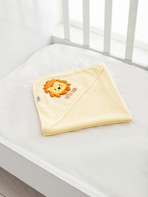 Aplike Nakışlı Bebek Banyo Havlusu - LCW HOME
