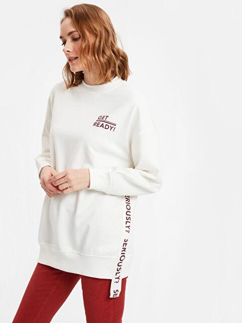 Slogan Detaylı Sweatshirt - LC WAIKIKI