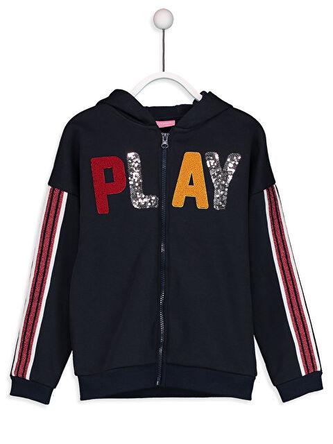 Pul İşlemeli Kolları Şeritli Fermuarlı Sweatshirt - LC WAIKIKI