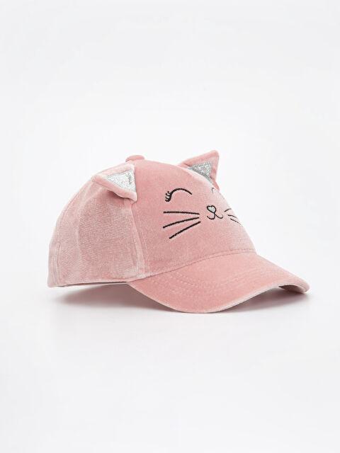 Kız Çocuk Aplikeli Kadife Şapka - LC WAIKIKI