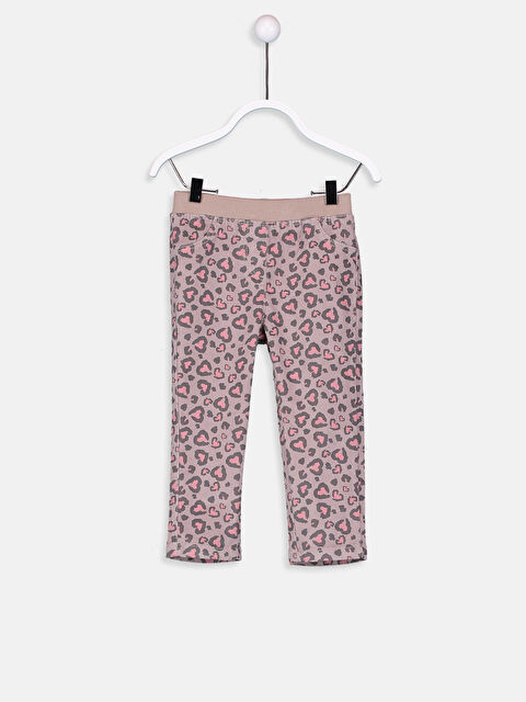 Kız Bebek Puantiyeli Kadife Pantolon - LC WAIKIKI