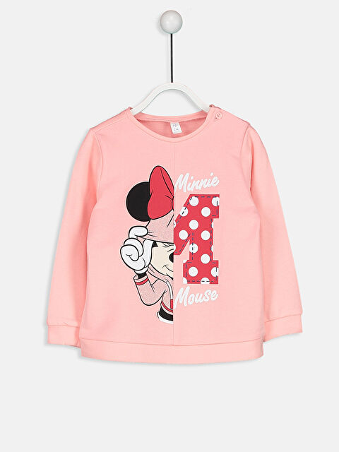 Minnie Mouse Baskılı Sweatshirt - LC WAIKIKI
