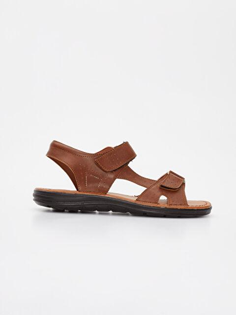 Erkek Deri Görünümlü Sandalet - LC WAIKIKI