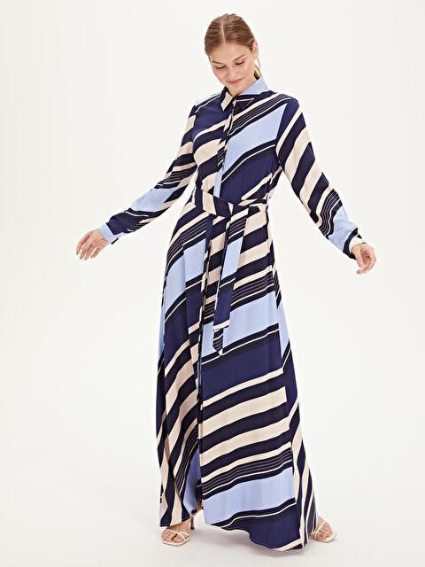 Kuşaklı Uzun Gömlek Elbise - LC WAIKIKI