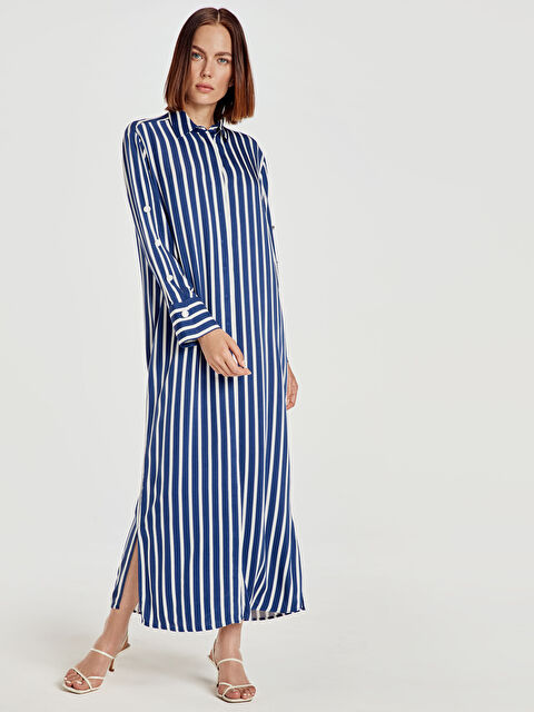 Çizgili Uzun Salaş Elbise - LC WAIKIKI