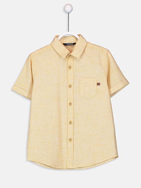 Erkek Çocuk Kısa Kollu Poplin Gömlek - LC WAIKIKI