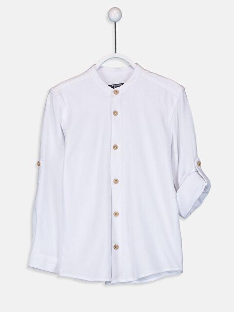 Erkek Çocuk Uzun Kollu Pamuklu Gömlek - LC WAIKIKI