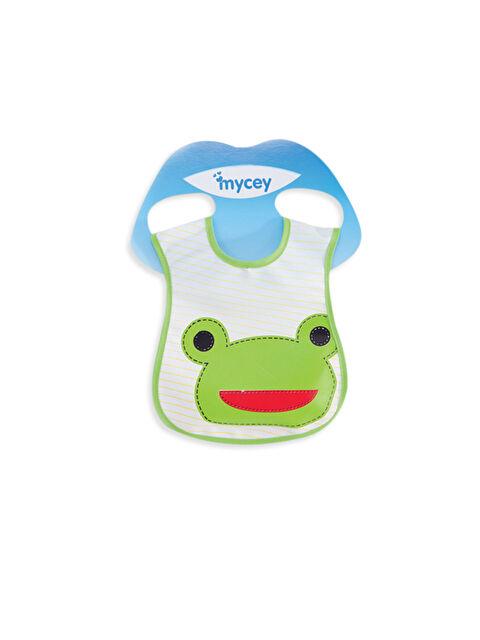 Mycey Leke Tutmaz Kurbağa Baskılı Mama Önlüğü - Markalar