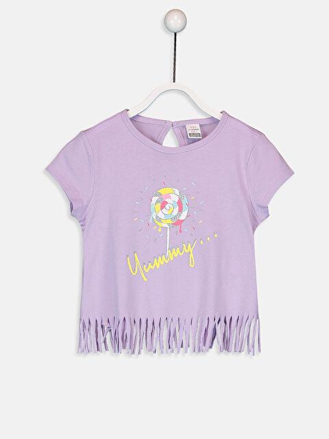 Kız Bebek Pamuklu Baskılı Tişört - LC WAIKIKI