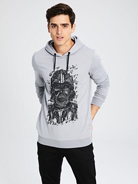 Star Wars Baskılı Kapüşonlu Sweatshirt - LC WAIKIKI