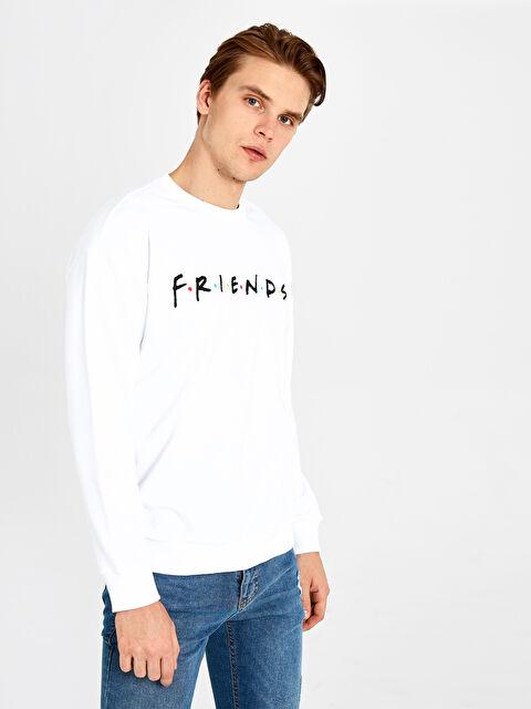 Friends Bisiklet Yaka Kalın Sweatshirt - LC WAIKIKI