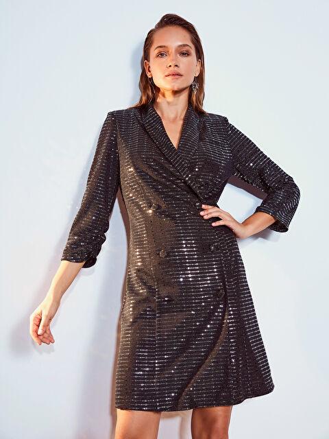 Işıltılı Esnek Ceket Elbise - LC WAIKIKI