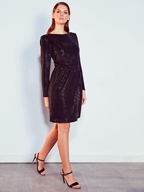 Işıltılı Esnek Elbise - LC WAIKIKI
