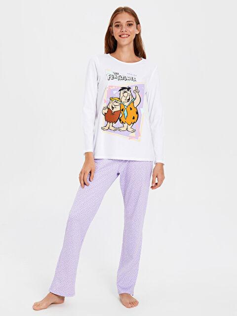 Taş Devri Baskılı Pamuklu Pijama Takımı - LC WAIKIKI