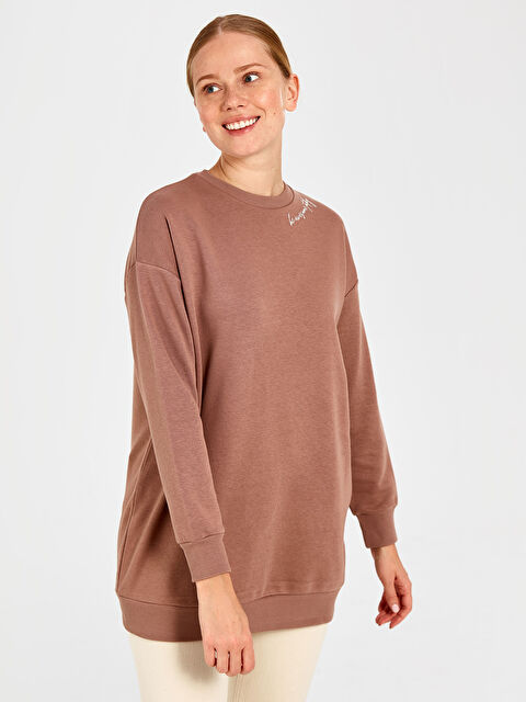 Yazı Detaylı Oversize Sweatshirt - LC WAIKIKI