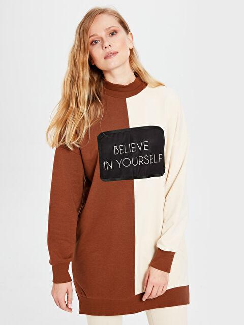 Soul By Loreen Yazı Baskılı Renk Bloklu Sweatshirt - Markalar