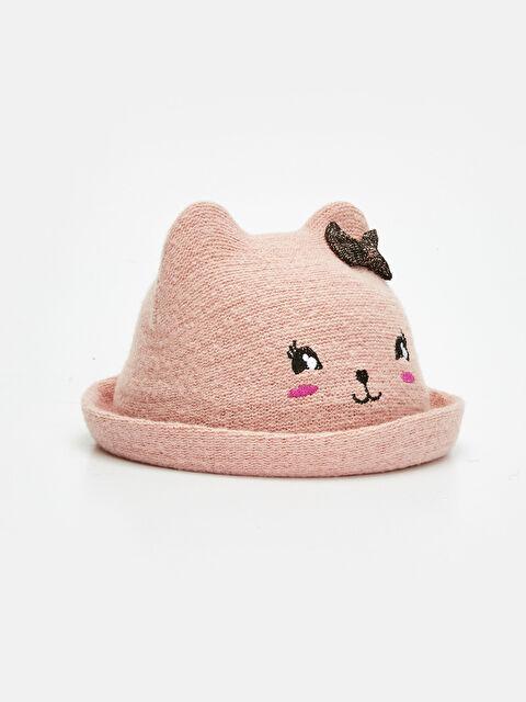 Kız Çocuk Nakış İşlemeli Şapka - LC WAIKIKI