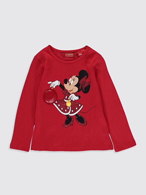 Kız Çocuk Minnie Mouse Baskılı Işıklı Tişört - LC WAIKIKI