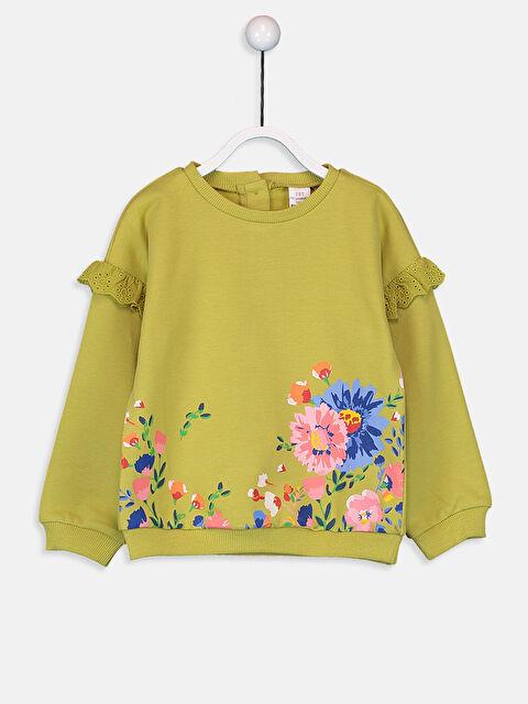 Kız Bebek Desenli Sweatshirt - LC WAIKIKI