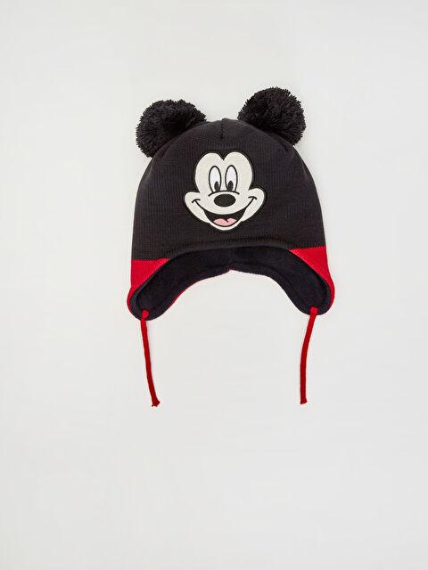Erkek Bebek Mickey Mouse Baskılı Triko Bere - LC WAIKIKI